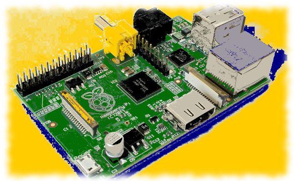 Verfremdetes Bild vom Raspberry Pi.