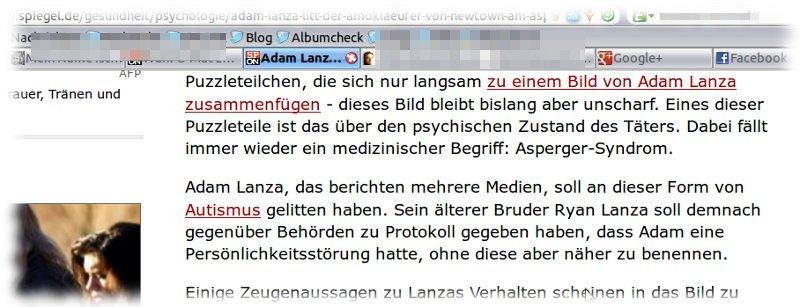 Screenshot von Spiegel Online.