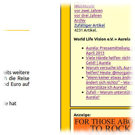 Screenshot von der Anzeige des Aurela-Feeds auf dieser Seite.
