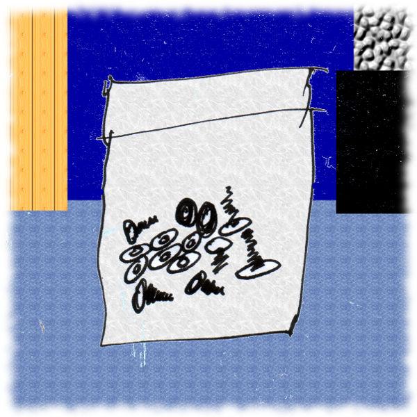 Zeichnung einer Schraubentüte.