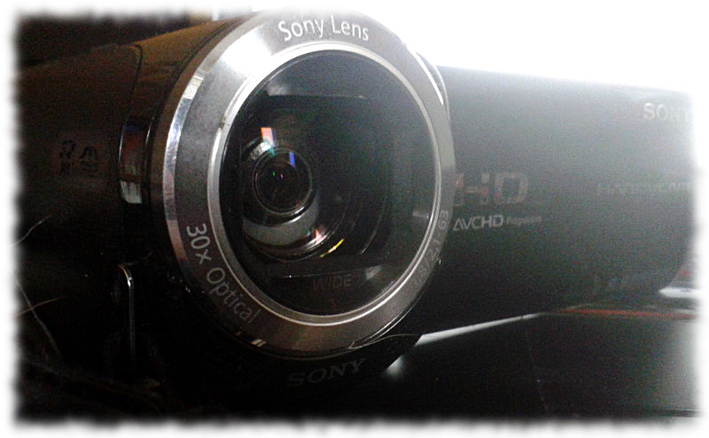Videokamera.