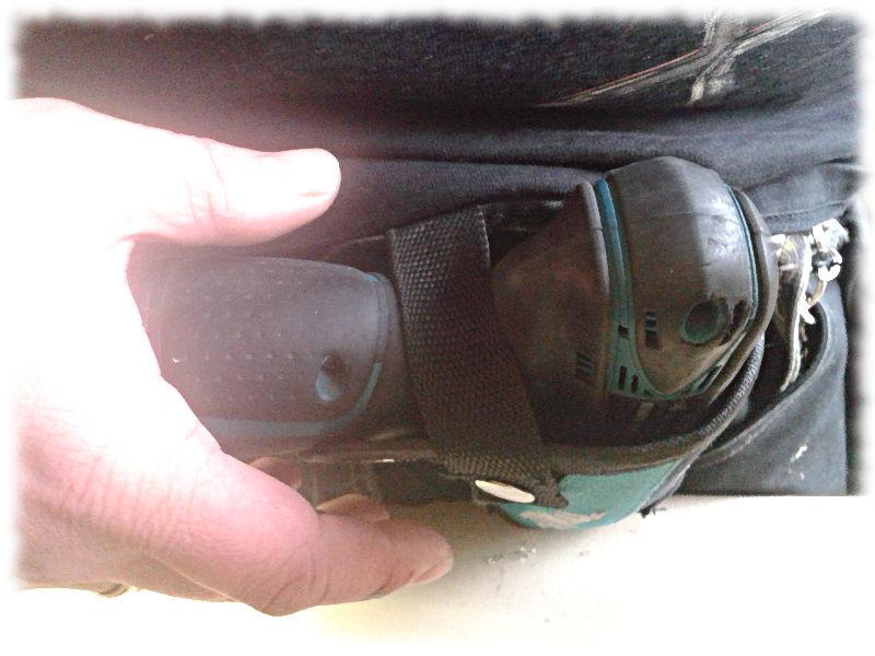 Mein Holster für den Akkuschrauber sieht aus wie eines für eine Pistole.