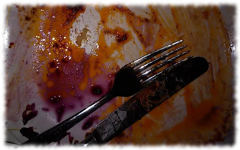 Ausschnitt leergegessener Teller