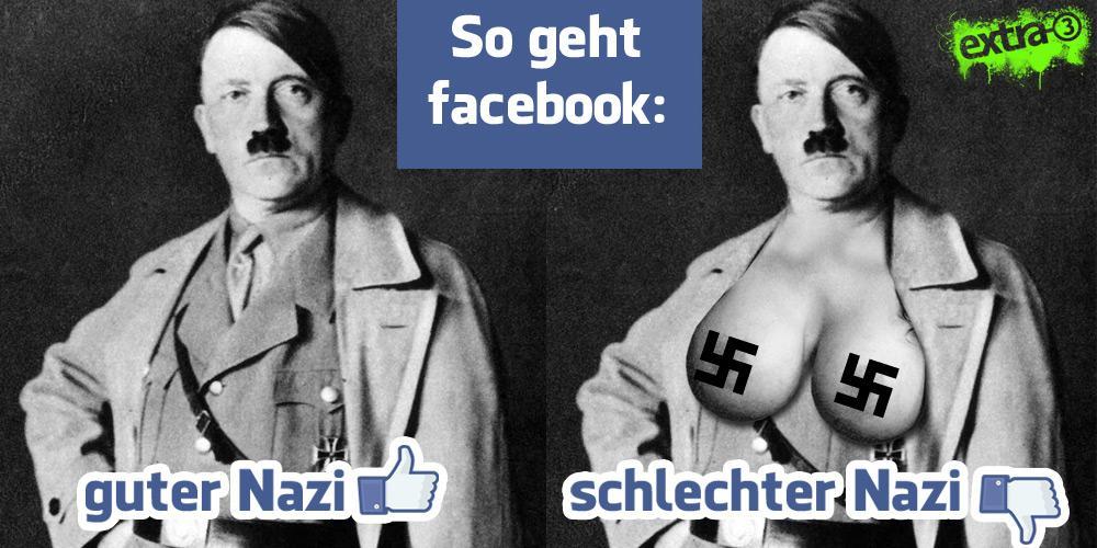 Guter Nazi-schlechter Nazi (von Extra3, Hitler normal und Hitler mit Brüsten)