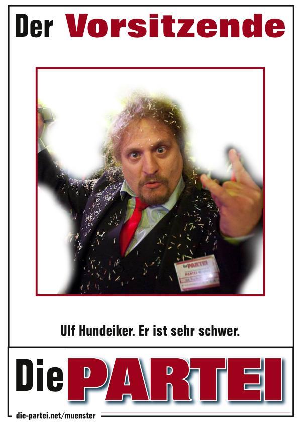PARTEI-Plakat mit Ulf drauf
