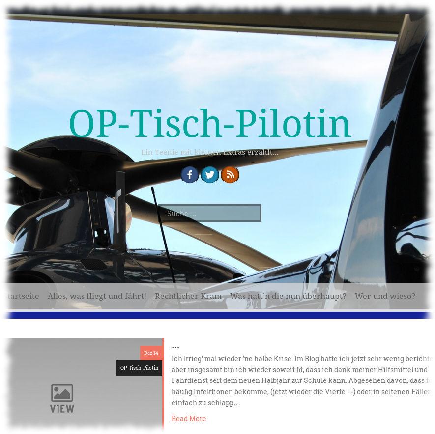 Screenshot der OP-Tisch-Pilotin.