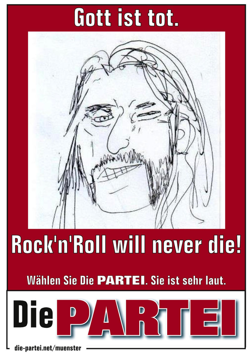Gott (Lemmy) ist tot. Rock'n'Roll will never die!