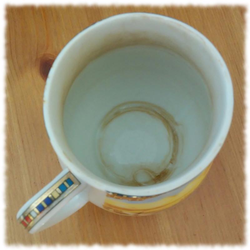 Leerer Kaffeebecher.