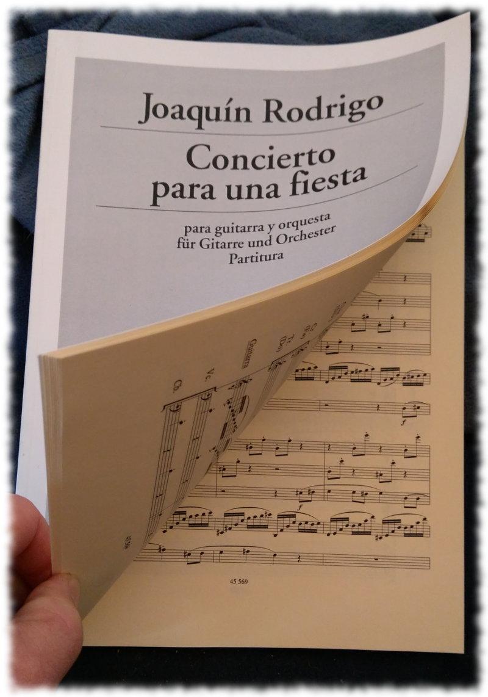 Partitur vonJoaquin Rodrigo: Concierto para una fiesta