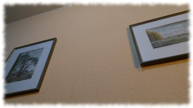 Zwei Aquarelle (Motive aus der Lüneburger Heide) an Wohnzimmerwand