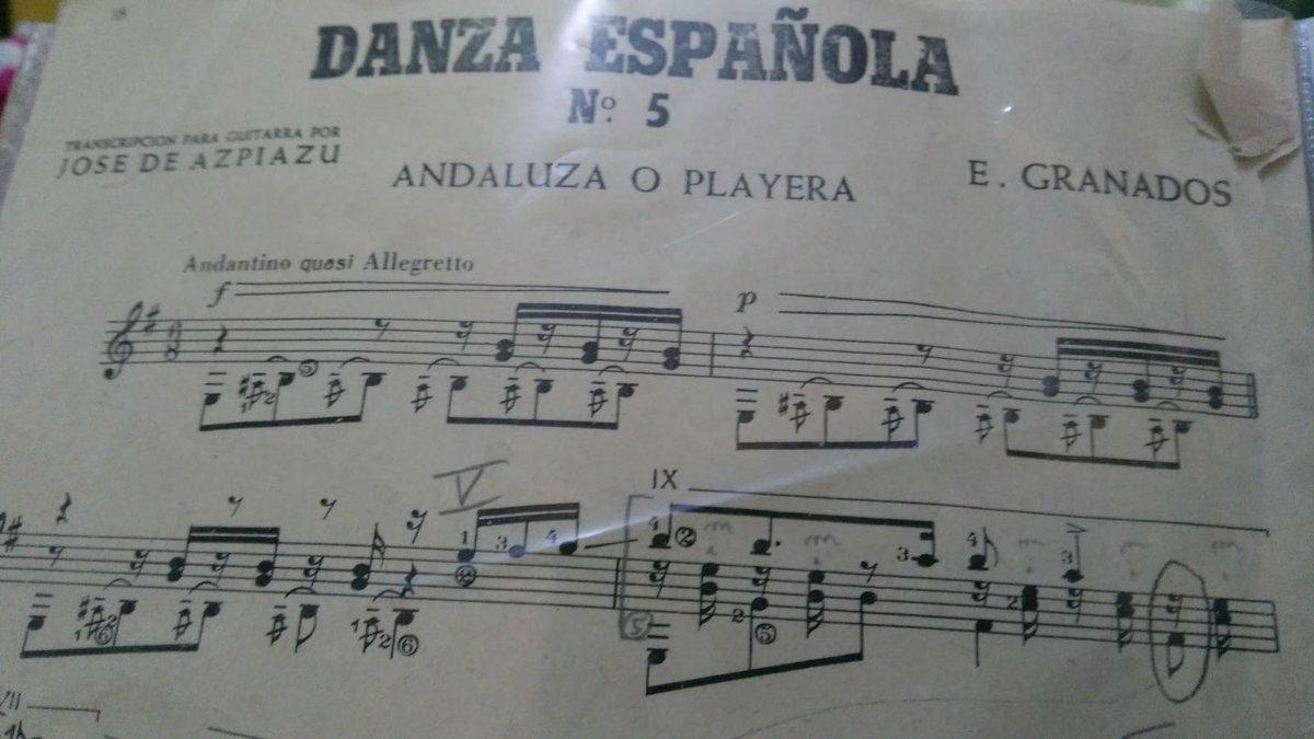 Noten (Danza Española Nr 5 von Enrique Granados)