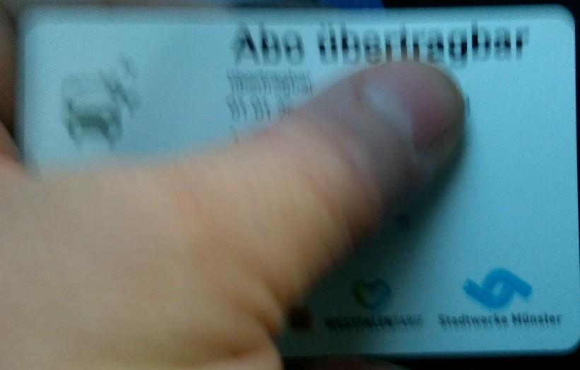 Monatskarte unscharf