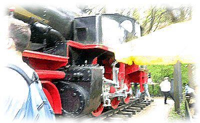 Schlechtes Photo vom Pängelanton (Dampflokomotive a.D.).