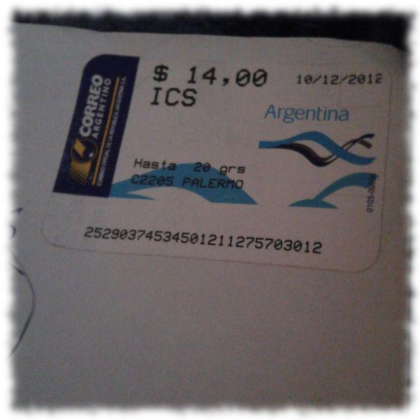 Argentinische Briefmarke.