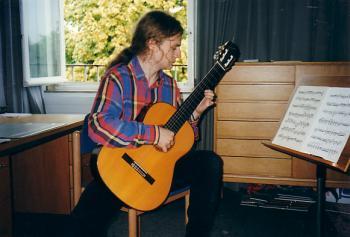 Ulf an der Gitarre, ca. 1994.